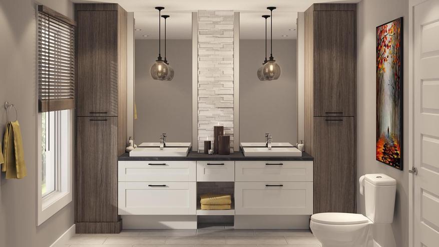 comment am nager une salle de bain striana. Black Bedroom Furniture Sets. Home Design Ideas