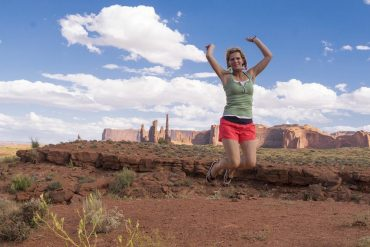 Femme sportive avec culotte menstruelle